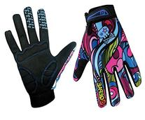 QEPAE Breathable Cycling Gloves Anti-Slip Full Finger Gel