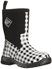 Muck Boot Girl's Breezy Mid Casual Boots, Black Gingham