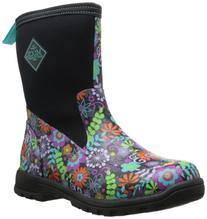 MuckBoots Women's Breezy Mid Boot,Black/Floral,8 M US