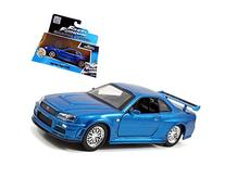 "Brian's Nissan Skyline GT-R R34 Blue ""Fast & Furious"" Movie"