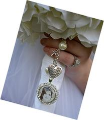 Bridal Bouquet Charm, Wedding Bouquet Pendant, Bridal