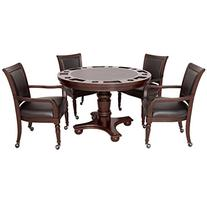 Hathaway Bridgeport 2-in-1 Poker Table Set with Four Arm