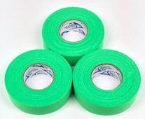 Bright Green Cloth Ice Hockey Tape - 3 Rolls