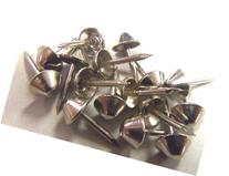 Bright Nickel Plated Cone Head Tapered Decorative Tack Nail