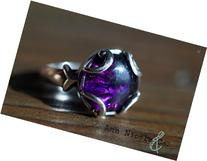 The Brigit Glass Cremation Ring made with ashes and glass