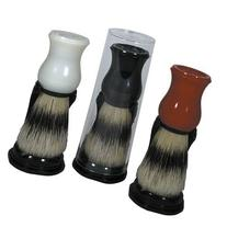Kingsley Bristle Shave Brush With Stand White