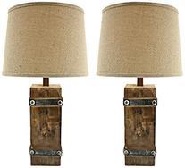 Aspire Brockton II Table Lamp , Brown