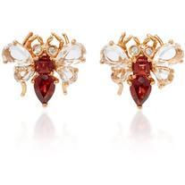 Bronia Pink Gold Bee Earrings