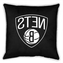 NBA Brooklyn Nets Sidelines Toss Pillow, 17 x 17, Black