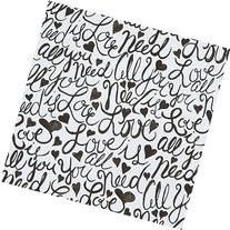 Brushscript All You Need is Love Gift Wrap Roll - 24in x