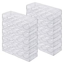 Brybelly Acrylic Poker Chip Rack/Tray with Covers , Clear