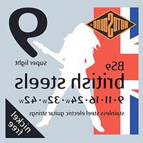 Rotosound BS9 British Steel Electric Guitar Strings