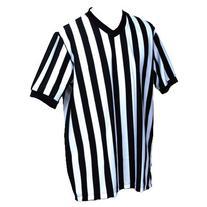 BSN V-Neck Referee Shirt, Medium, Black/White