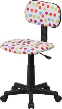 Flash Furniture BT-D-MUL-GG Multi-Colored Dot Printed