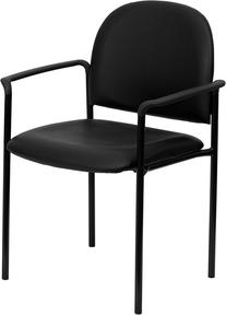 Flash Furniture BT-516-1-VINYL-GG Black Vinyl Comfortable