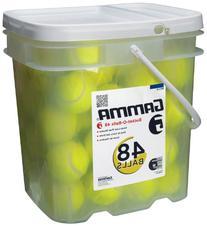 GAMMA Pressureless Tennis Ball Bucket| Case w/48 Practice