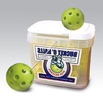 Jugs Bucket of Vision-Enhanced Yellow Poly Baseballs