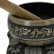 Buddhist Singing Bowl Meditation Tibetan Golden and Black