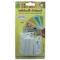 Swatch Buddies Swatch Buddies Fabric Fan, White, 24-Pack
