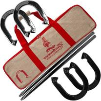 Budweiser Horseshoe Set with Carrying Case