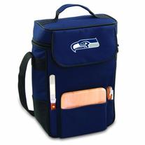 NFL Seattle Seahawks Duet Insulated 2-Bottle Wine and Cheese