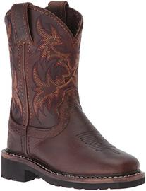 Justin Boots Kids' Buffalo Stampede Western, Brown, 3 D US