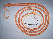 10 Foot 4 Plait TAN Real Leather BULLWHIP bull whips