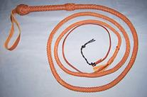 Bullwhip Tan Real Leather BULLWHIP 8 Foot 12 Plait BULL WHIP