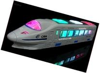 WolVol Bump & Go Action Electric Train Toy with Lights and