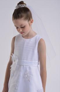 Us Angels Bun Wrap Communion Veil, Size One Size - White