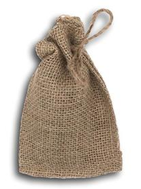 Small Burlap Bag 4 Inches Wide By 6 Inches Wide With