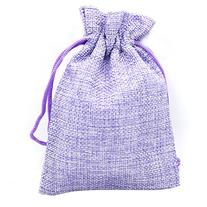 High Quality Burlap Favor Gift Bags with Drawstring 3 X 5