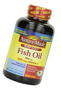 Nature Made Burpless Fish Oil 1000 mg w. Omega-3 300 mg
