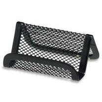 Rolodex Business Card Holder, Mesh, 50 Cards Capacity, Black