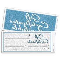 Adams Gift Certificate Book, Carbonless, Single Paper, 3.4 x
