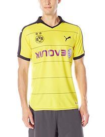 Puma Men's BVB Home Replica Shirt with Sponsor, XX-Large,