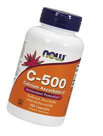 Now Foods C-500, Calcium  Ascorbate-C , 100 Capsules