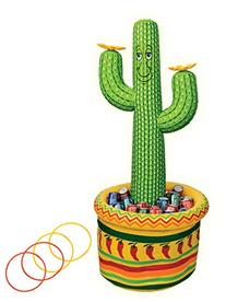 Cactus Beverage Cooler Ring Toss Game