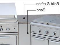 DCS CADBND Brushed Stainless Steel Bend Unit