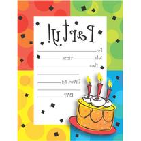 Creative Converting 8 Count Cake Celebration Postcard Party