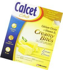 Calcet Lemon 500mg Calcium Citrate Creamy Bites