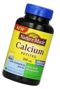 Nature Made Calcium Petites 200 Mg with Vitamin D Softgels,