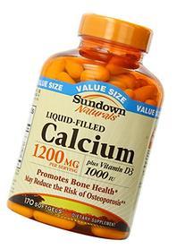 Sundown Calcium Plus D3, 1200 mg, Liquid-Filled, 170