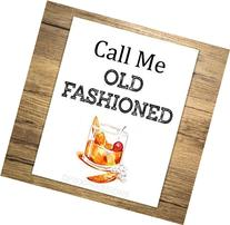 Call Me Old Fashioned Art Print, Bar Cart Art Print, Bar