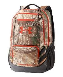 Under Armour Camo Hustle Backpack, Realtree Ap-Xtra/Dynamite