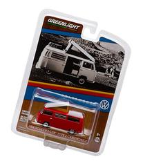 1968  Type 2  Camper Van Red with White 1/64 by Greenlight