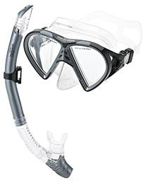 Phantom Aquatics Cancun Mask Snorkel Combo, Silver