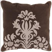 """18"""" Candelabra Mocha and Beige Decorative Throw Pillow Down"""