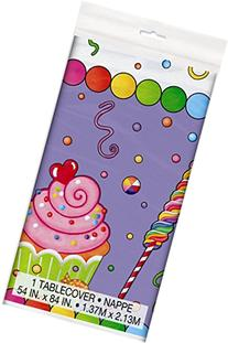 """Candy Party Plastic Tablecloth, 84"""" x 54"""