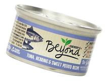 Purina Beyond Natural Canned Cat Food, Tuna, Herring and Sweet Potato Recipe, 3-Ounce Can, Pack of 12